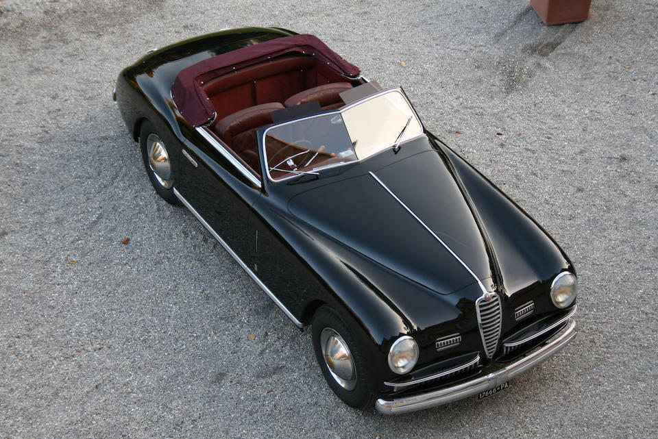 19,733 kilometres from new, same owner from 1955 - 2004,1950 Alfa Romeo 6C 2500 Super Sport Cabriolet  Chassis no. 915870 Engine no. 928181