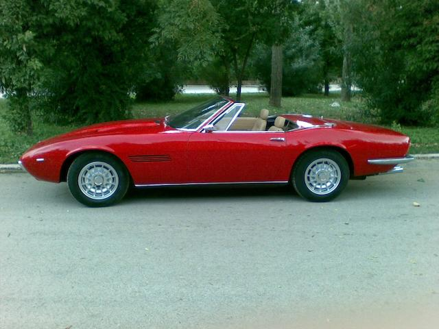 One of only 125 spider produced,1970 Maserati Ghibli 4.7-Litre Spyder AM115S 1025