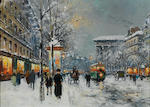 Antoine Blanchard (French, 1910-1988) Paris dans la neige 33 x 46 cm (13 x 18 in)