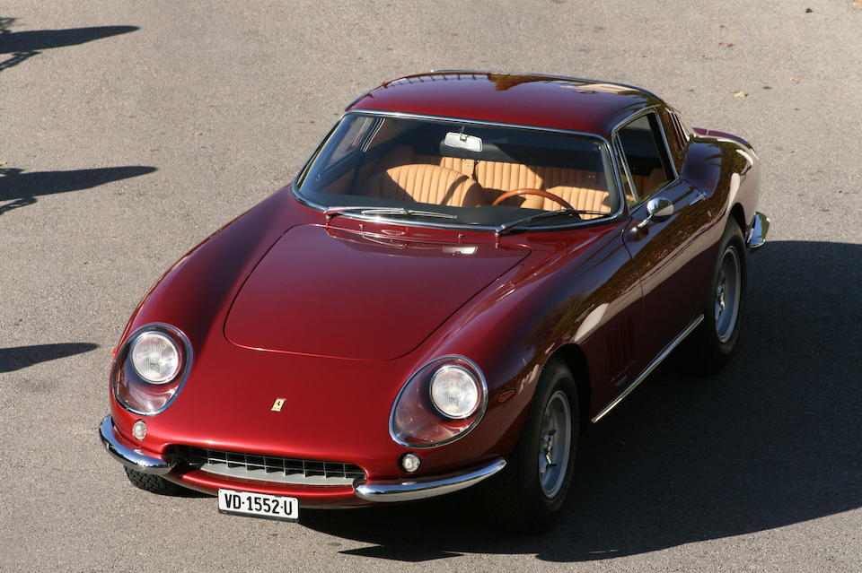 One of only 30 examples, with its Ferrari certification,1966 Ferrari 275GTB/2 6C Berlinetta long nose  Chassis no. 08557 Engine no. 08557