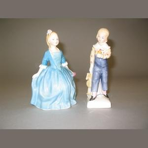 A Royal Doulton figure 'Tom' HN 2864 and 'Child from Williamsburg' HN 2154. (2)