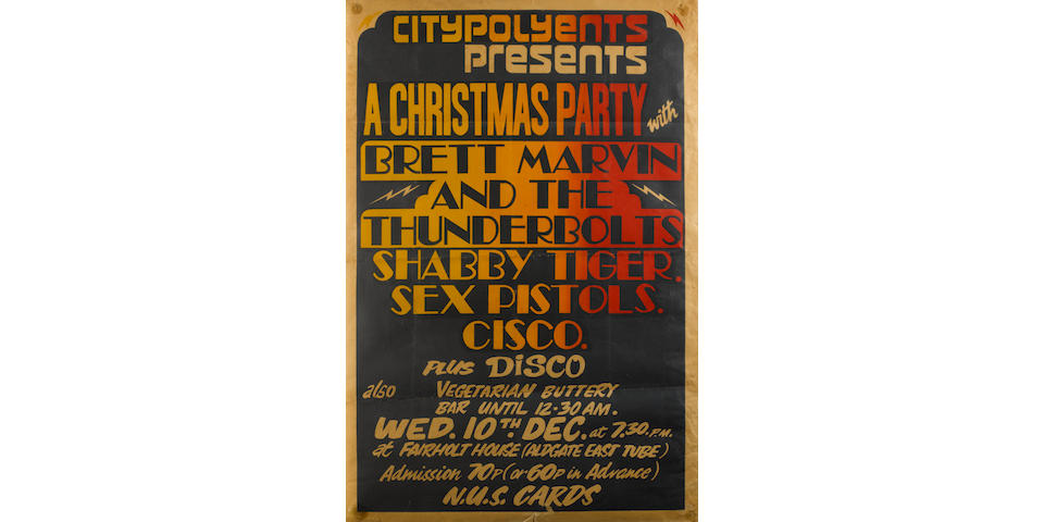 A rare poster for the Sex Pistols at the City of London Polytechnic,