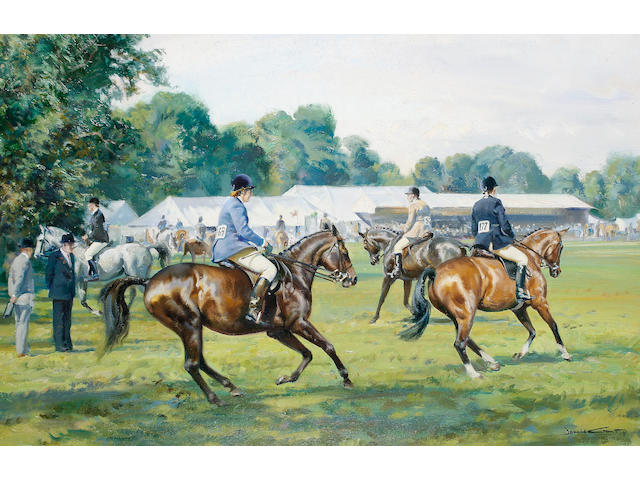 Donald Grant (British, 1942-2001) The Windsor equestrian and horse show, a pair