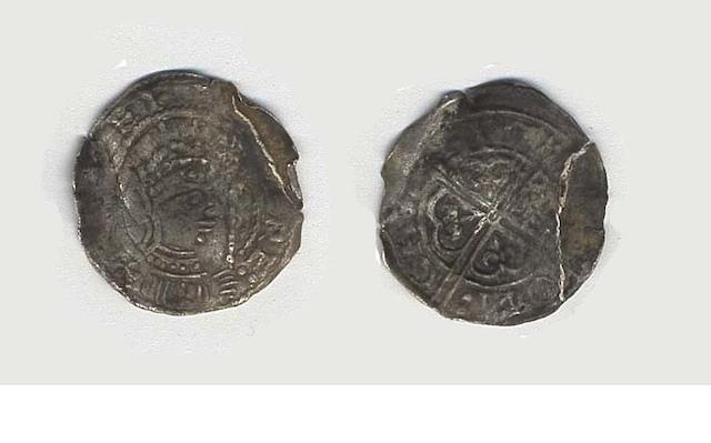 Stephen, 1135-1154, Penny, North-East and Scottish border variants, long cross, variation of Newcastle mint, reading IOCWE on CAST,