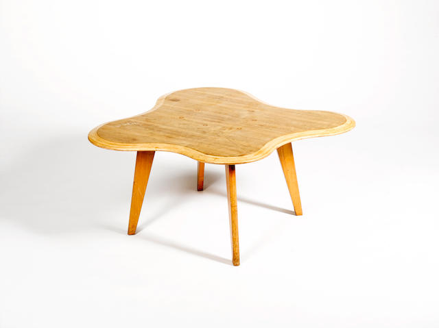 Neil Morris for H. Morris and Co, a 'Cloud' table, designed 1947 mahogany and betula laminate