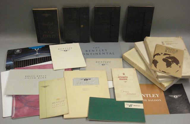 A quantity of post war Rolls-Royce and Bentley technical and sales literature,