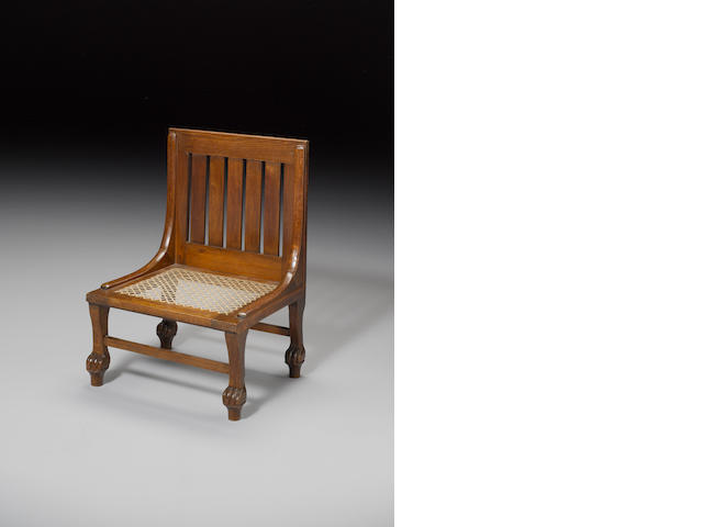 A Liberty Egyptian Revival small chair
