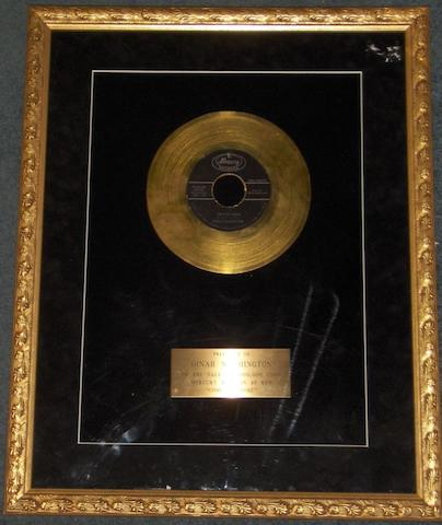 "Two 'In-House' 'Gold' awards relating to ""Dinah Washington"", one being for the single ""What A Difference A Day Makes"" the other for ""Come On Home"", both named to ""Dinah Washington"","