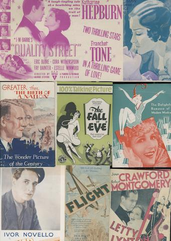 A large collection of approximately four hundred and fifty early Hollywood promtional handbills handbills, film titles including;