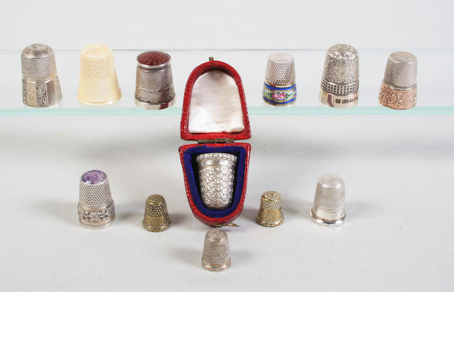 A collection of thimbles