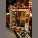 A 19th century giltwood cushion mirror