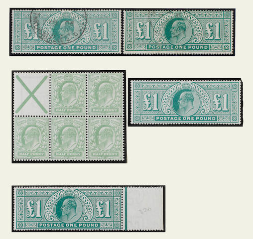 1902-10 collection of K.E.VII issues in mixed condition in an album with mint and used sets inc. 1902-10 De La Rue printing to £1, 1911-13 Somerset House printing to £1 and 1911 Harrison issues to 4d., good range of shade varieties, also 1902-10 ½d. booklet pane of five plus St. Andrew's Cross label, etc. (182)
