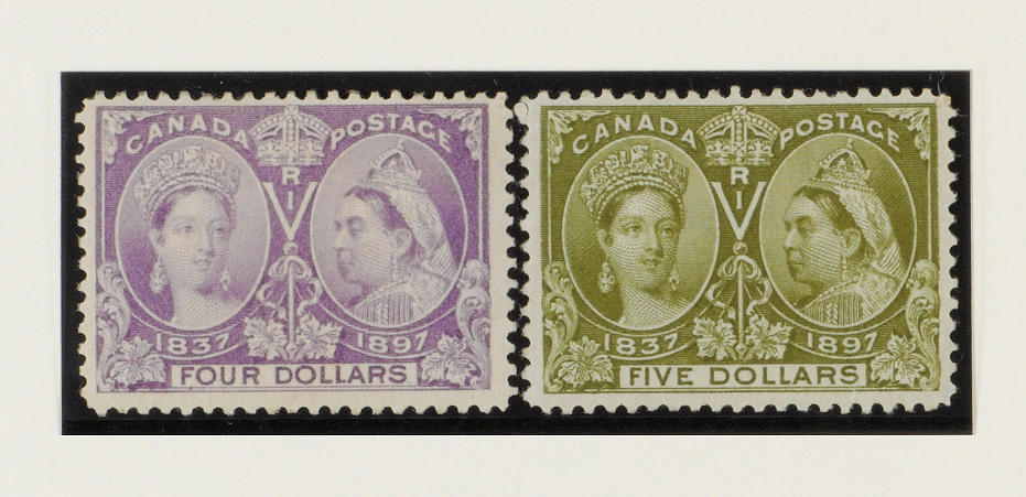 Canada: 1897 Jubilee ½c. to $5 set mint, some gum imperfections, mainly fine and fresh. (723)