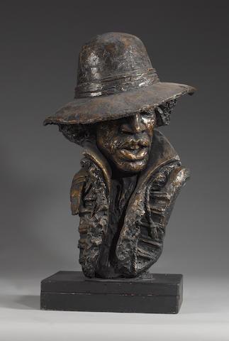 John Somerville: a bust of Jimi Hendrix, 1980s,