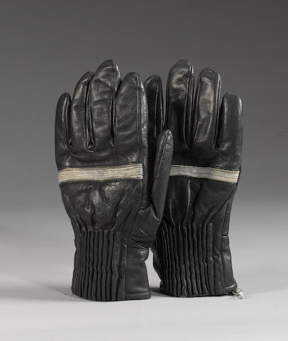 A pair of skiing gloves worn by Ringo Starr in 'Help!', 1965,