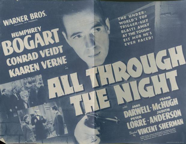 Four Humphrey Bogart related promotional film handbills, film titles including;4