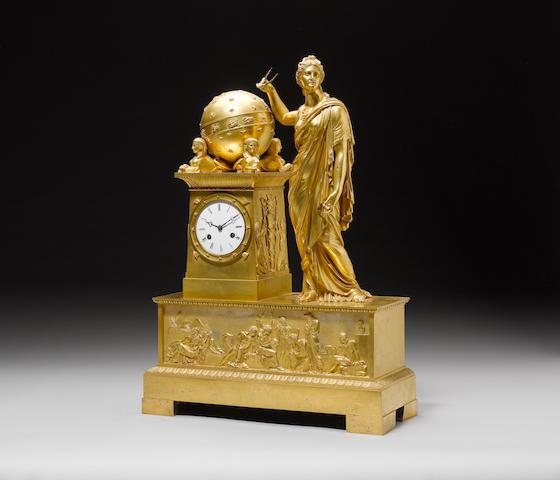 An Empire gilt-bronze 'Retour d'Egypte' clockEarly 19th Century