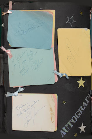 Autographs and tickets relating to the Hollywood premiere of 'The Man In The Gray Flannel Suit', 12t