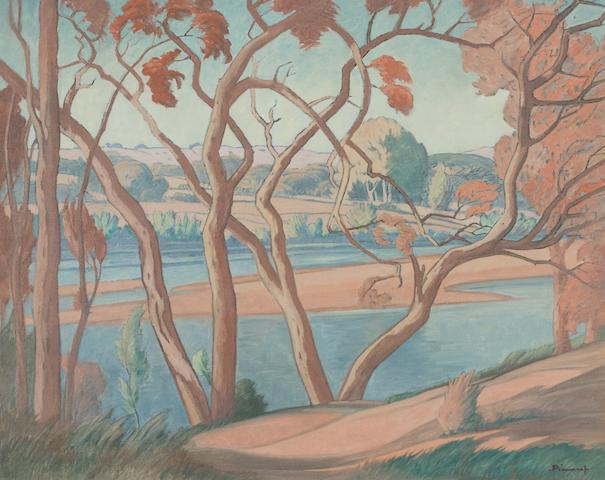 Jacob Hendrik Pierneef (South African, 1886-1957) Olifants Rivier (Mpumalanga), Northern Transvaal 60 x 75 cm. (23½ x 29½ in.)
