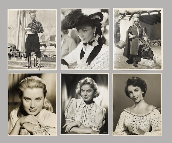 A collection of signed photographs,