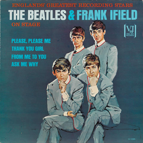 A rare pressing of the album 'England's Greatest Recording Stars The Beatles & Frank Ifield On Stage', 1964,