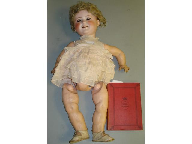 Porzellanfabrik Burggrub Princess Elizabeth bisque head doll, circa 1930  2.