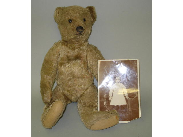 Brown mohair Steiff Teddy bear, German circa 1909