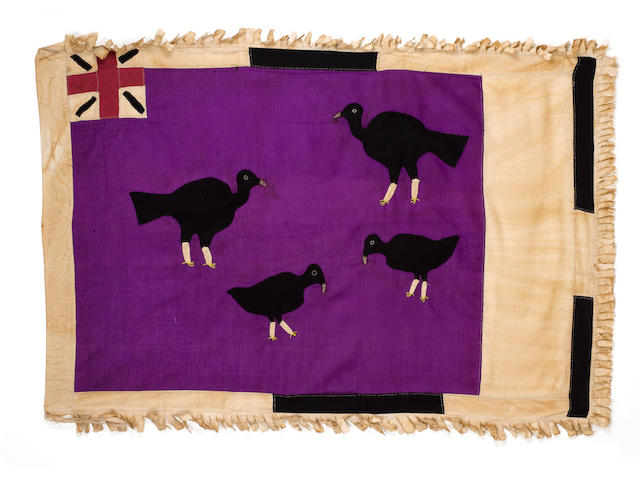 A Fante Flag  Ghana *to be mounted* 143cm x 97cm