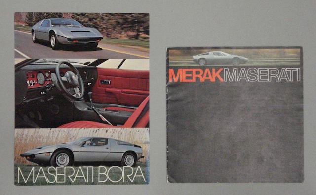 Two Maserati brochures,