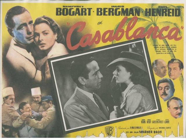 A collection of approximately nineteen items of Humprey Bogart related promotional film material, including;19