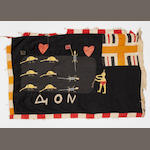 A Fante Flag  Ghana *to be mounted* 157cm x 103cm