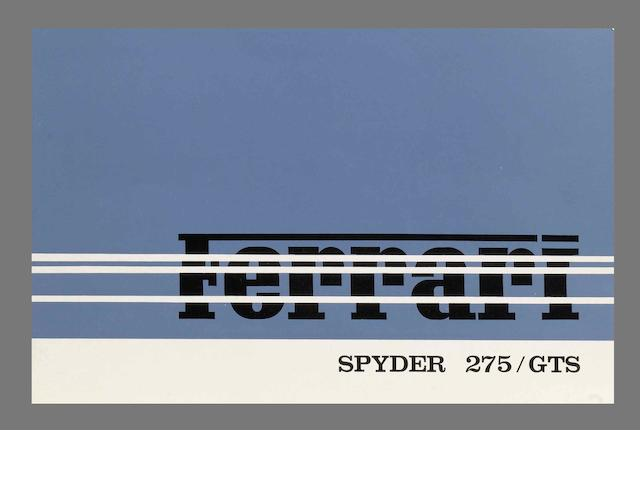 A sales brochure for the Ferrari 275 GTS Spyder,