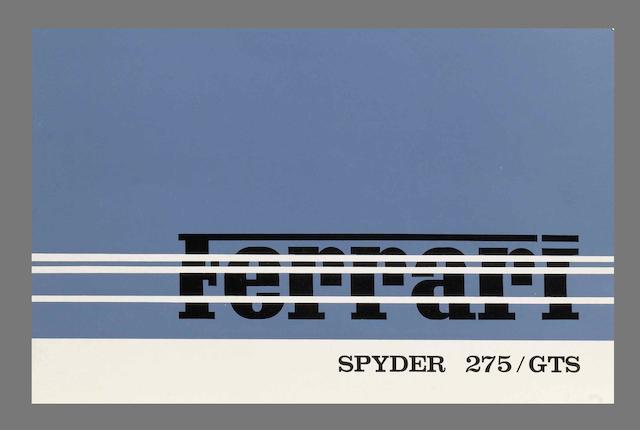 A sales brochure for the Ferrari 275 GTS Spyder,
