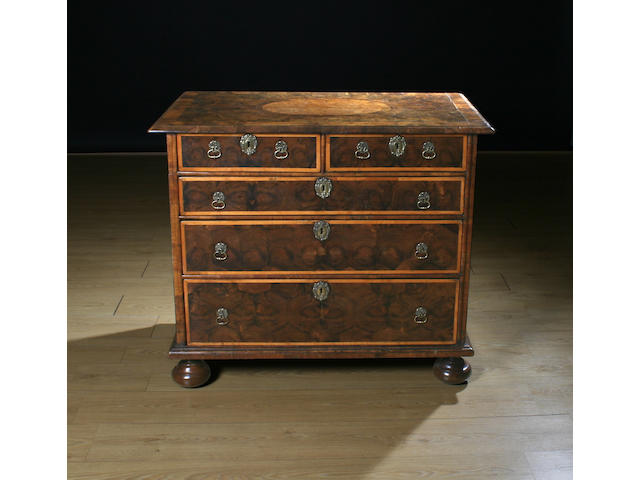 A late 17th Century oyster veneered chest of drawers