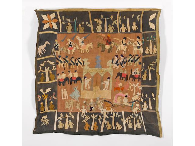 A Kanduri shrine cloth Uttar Pradesh, India 127cm x 134cm