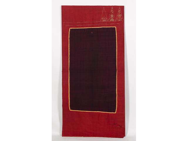 A shawl Lawon 19th Century, Palembang, South Sumatra,Indonesia mounted, 194cm x 85cm