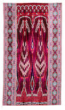 A velvet ikat hanging Persia, early 20th Century
