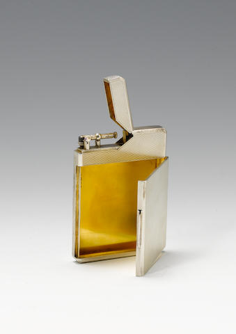 Silver cigarette lighter/case