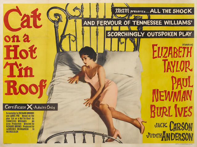 Cat On A Hot Tin Roof, Metro-Goldwyn-Mayer, 1958,