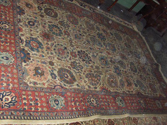 A Tabriz carpet  325 x 216cm