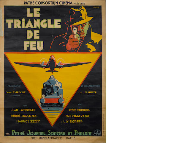 Le Triangle De Feu, Pathé Cinema, 1932,