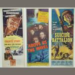 A collection of nine war and military related U.S Insert posters, including;