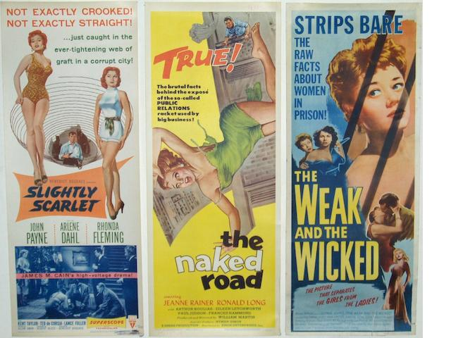 "A collection of ten 1950's Insert posters, all being ""Bad Girl"" style films, including;"