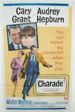 Two Audrey Hepburn related film posters,  including; Roman Holiday, Paramount Pictures, 1953 and Charade, Universal Pictures, 1963,