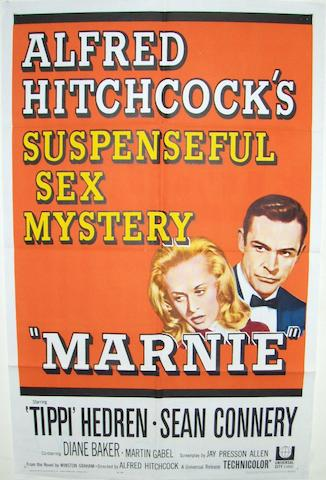 Two Alfred Hitchcock related posters, including; Marnie, Universal Pictures, 1964 and Torn Curtain, Universal Pictures, 1966,