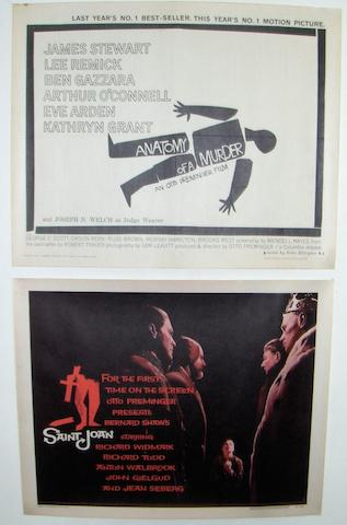 Four Saul Bass designed film posters, including; 4