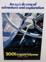Two 2001: A Space Odyssey film posters, Metro-Goldwyn-Mayer, 1968,