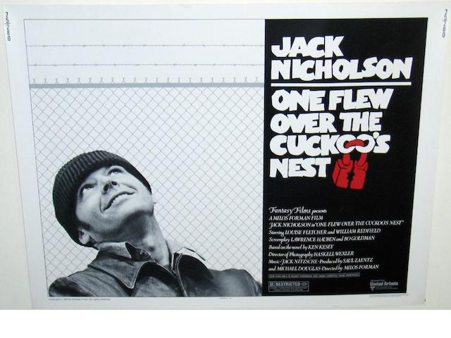 Two Jack Nicholson related film posters, including; One Flew Over The Cuckoo's Nest, United Artists, 1975,2