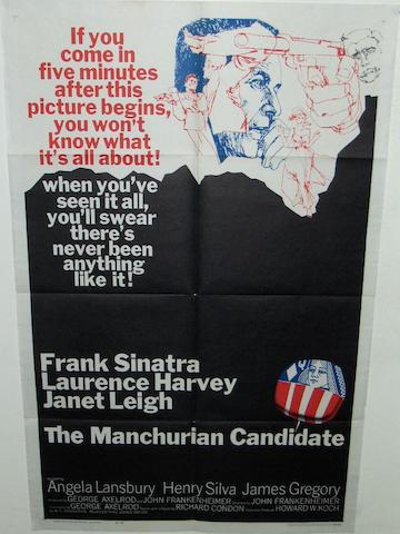 Two U.S. one-sheet cult film posters,  including; The Manchurian Candidate, United Artists, 1962 and The Midnight Cowboy, United Artists, 1969,