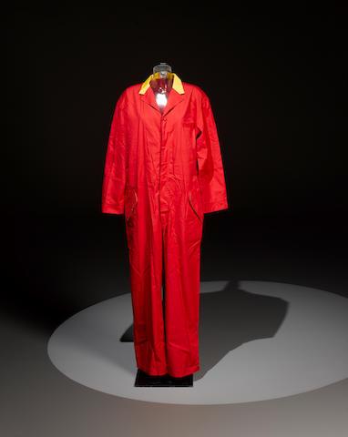 Elton John's Versace boiler suit, worn on the CD cover 'Elton John - One Night Only The Greatest Hits',